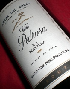 Viña Pedrosa La Navilla 2007